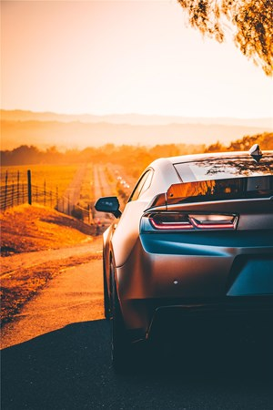 image of car during golden hour